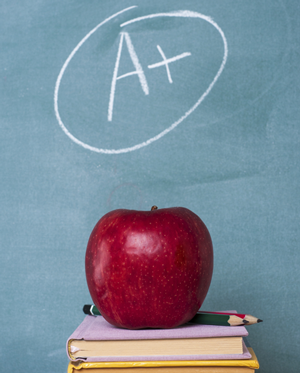 Image of letter A on a chalkboard
